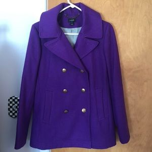 JCrew Purple Pea Coat